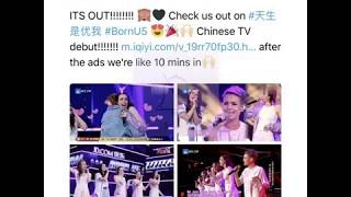 Lisa Cimorelli Shared Cimorelli in CHINESE TV 天生是优我 ! #BornU5