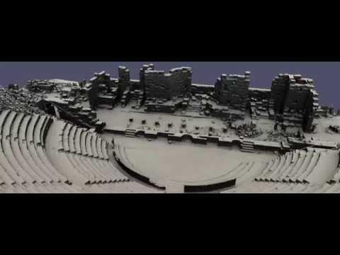 Animation of the 3D model of the Roman Amphitheatre in Djemila, Algeria