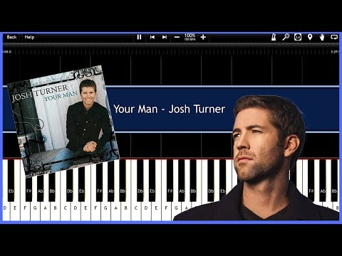 Your Man - Josh Turner (Synthesia) [Tutorial] [Instrumental Video] [Download]