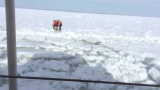 Video USCG Rescues Man Walking from Frozen Lake St. Clair download MP3, 3GP, MP4, WEBM, AVI, FLV Desember 2017