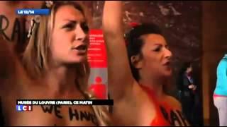 احتجت مجموعة من النساء العاريات الأوكرانيات الجنسية