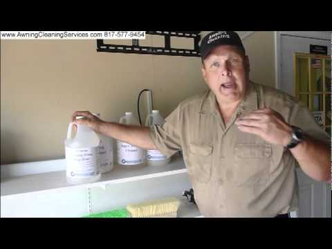 awning cleaning products chemicals dallas fort worth dfw tx 817