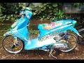 Cah Gagah | Video Modifikasi Motor Honda Beat Airbrush Warna Biru Keren Terbaru