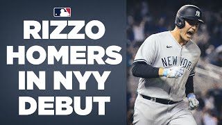 Rizzo rakes! Anthony Rizzo CRUSHES homer in Yankees debut!