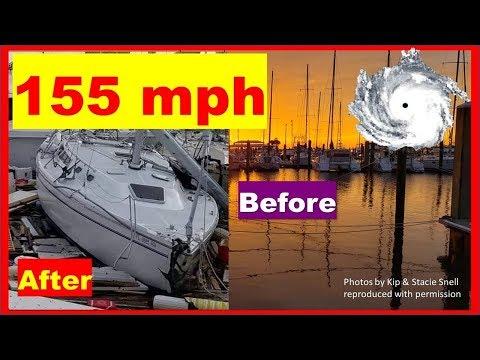 Sailboats WRECKED by Hurricane Michael in Panama City Marinas
