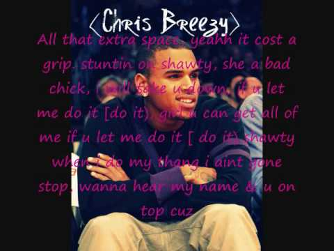 Chris brown - too freaky [with lyrics)