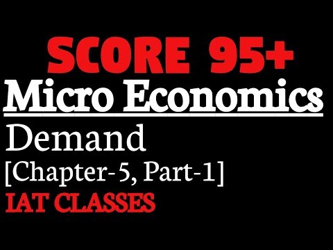 Demand[Part-1], Micro Economics,Determinents of demand