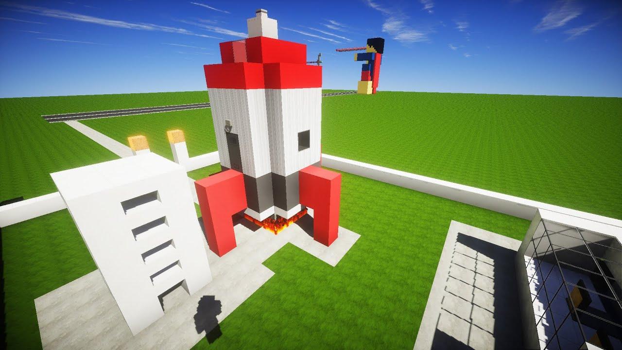 как построить в майнкрафте мини ракету в ютубе #3