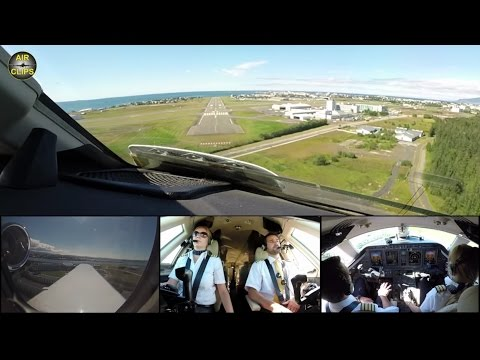 Hahn Air ULTIMATE COCKPIT MOVIE 2 / 3 MULTICAM! Full ATC! To Reykjavik [AirClips full flight series]