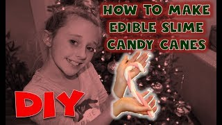 Christmas Candy Cane Edible Slime DIY | How To Make Christmas Edible Slime