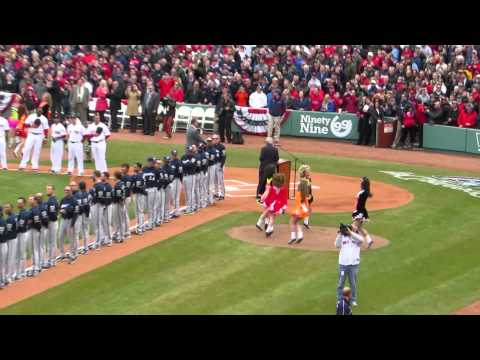 Dropkick Murphys Opening Day Ring Ceremony at Fenway Park -April 4, 2014