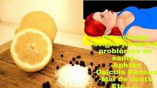 La plupart des Gens ne savent pas que le sel le Poivre et le Citron soignent  9 Problèmes de santé