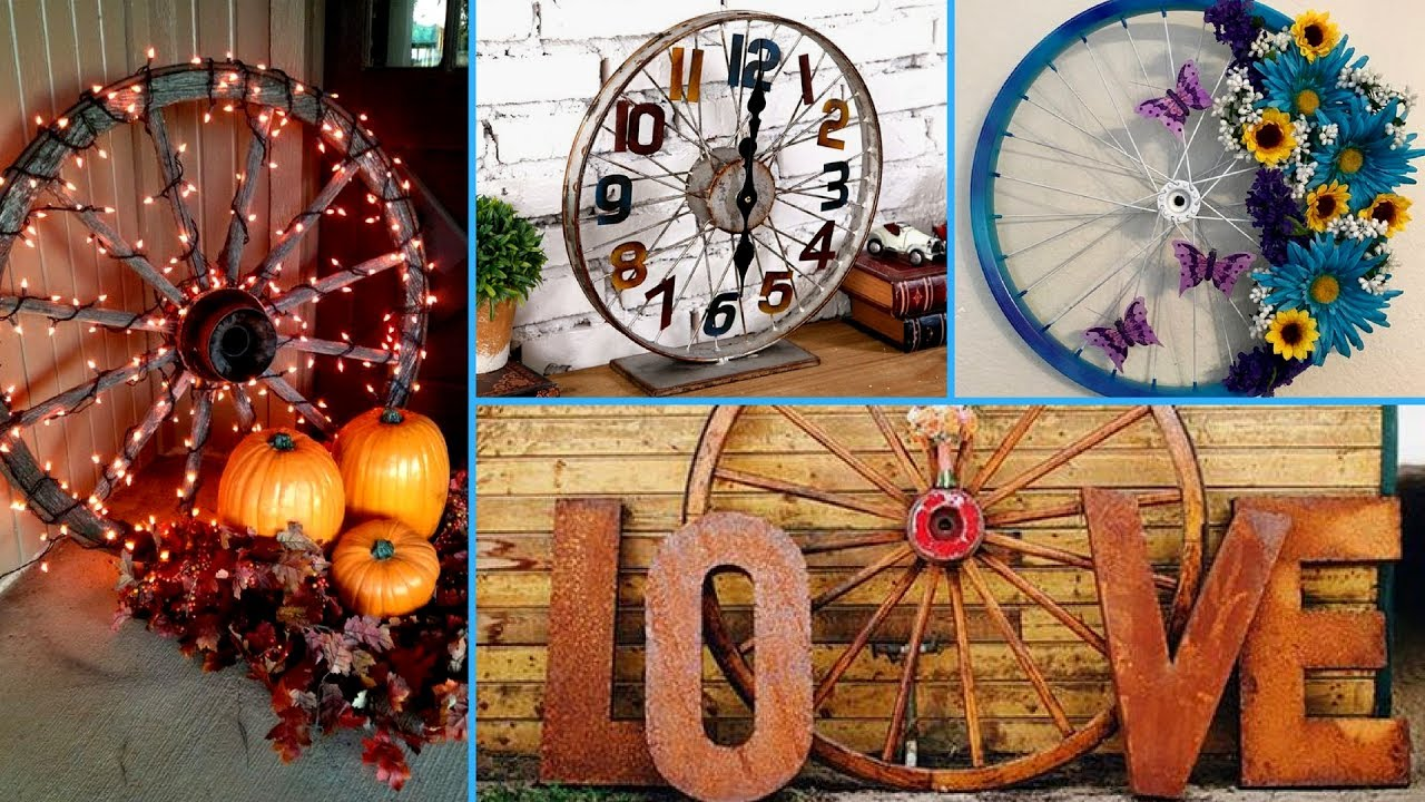 Diy Wagon Bicycle Wheel Decor Ideas Re Purposed Project