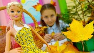 Осенние поделки с Барби. Детское творчество