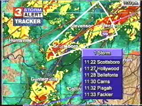 Part 3  2002 Veterans Day Tornado Outbreak Coverage from WRCBTV Chattanooga, TN