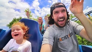ADLEY's FIRST ROLLERCOASTER!! Family Fun Day and 45ft drop at the ultimate Amusement Park!