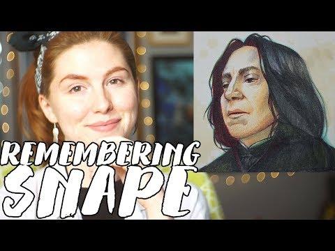 Drawing Alan Rickman AKA Professor Snape // Rad Art with Beth Be Rad | SNARLED