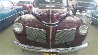 1941 Mercury Club Convertible Maroon MecumKissimmee0105194837