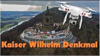 Kaiser Wilhelm Denkmal | Minden - Porta Westfalica | Umbau | Cinematischer Drohnenflug | 4k