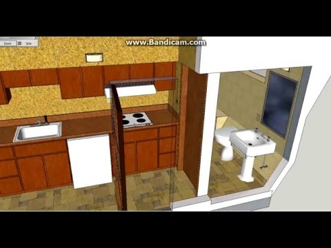 the refuge d 24 a tiny tiny house on wheels large great room and bedroom sketchup design
