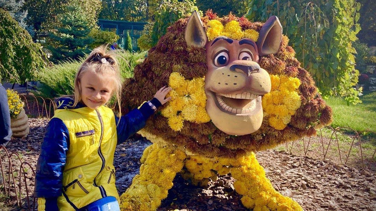Дети животные и бал хризантем | Ярослава в зоопарке | Tiki Taki Kids
