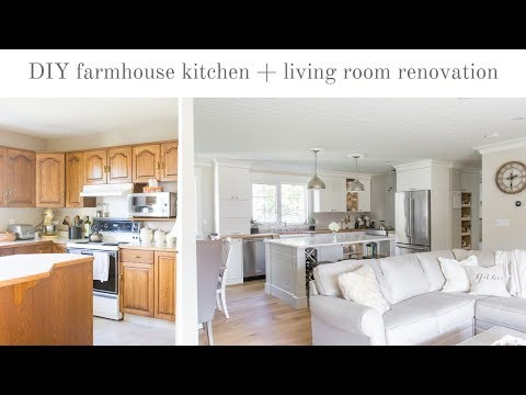 Our DIY Farmhouse Kitchen And Living Room Renovation