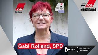 Gabi Rolland (SPD)   DGB HSG Freiburg: Video-Aktion Zur Landtagswahl