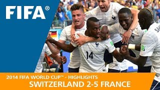 SWITZERLAND v FRANCE (2:5) - 2014 FIFA World Cup™