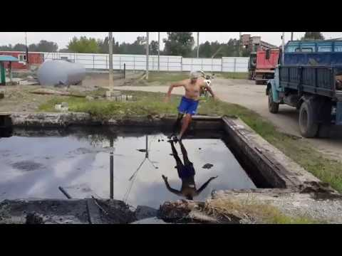 US GOVERNMENT reacts to Russian man jump in the pool of OIL!