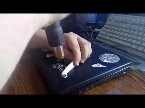 Как снять наклейку с ноутбука без следов