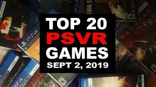 Top 20 PlayStation VR Games | September 2, 2019