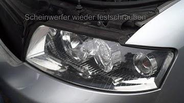 Audi A4 B6 Halogenbirne Scheinwerfer wechseln