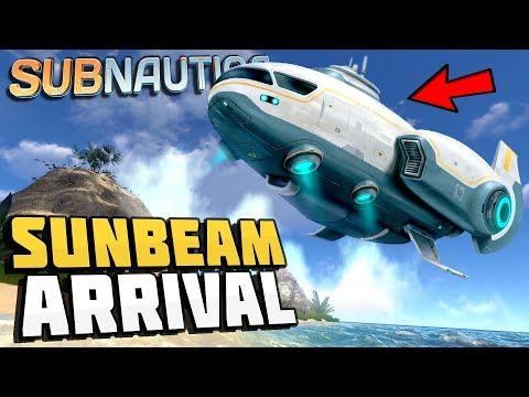 Subnautica - THE SUNBEAM ARRIVAL! - Sunbeam Rescue Ship Event - Let's Play Subnautica Gameplay