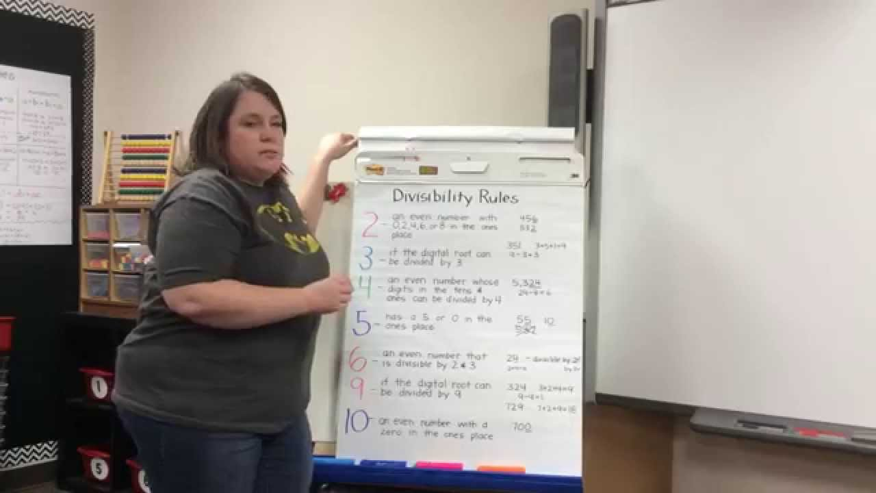 hight resolution of Divisibility Rules 5th Grade at SSE - YouTube