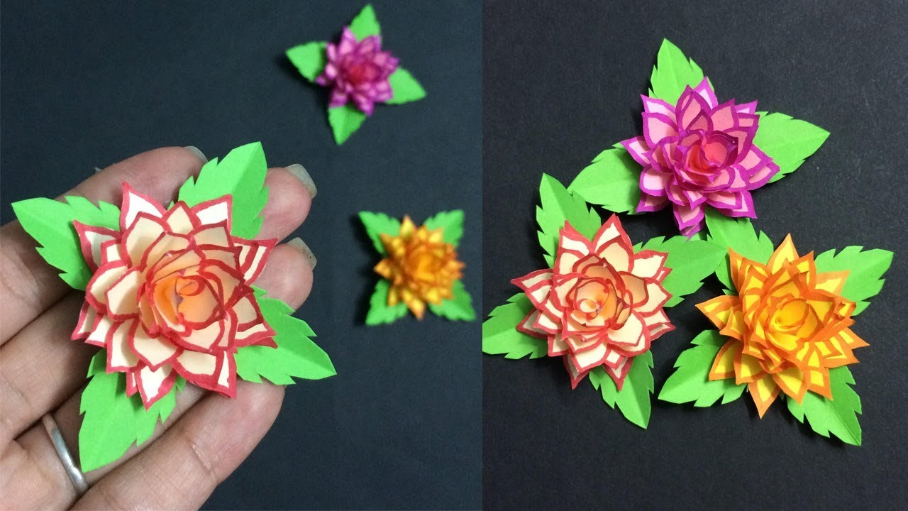 How To Make Small Paper Flower Making Paper Flowers Step By Step Diy Paper Crafts