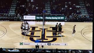 #2 Hawaii vs #3 UC Irvine Set 3 (men's volleyball) part 5