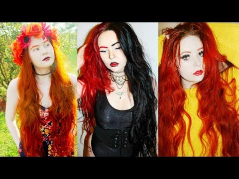 How to have long healthy dyed hair with NO damage!!! (Hair Q&A) - 동영상