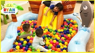 the ball pit show for learning colors  children and toddlers educational video