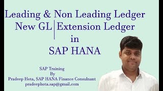 Leading and Non Leading Ledger in SAP | SAP Extension Ledger | New GL in SAP |SAP Document Splitting