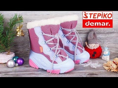 DEMAR Snow Mar A 4017A - Детские зимние сноубутсы . Видео обзор от STEPIKO