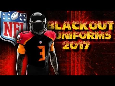 1939183b13b NEW NFL BLACKOUT UNIFORMS FOR ALL 32 TEAMS 2017 - YouTube