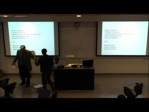 David R Henderson Presents to K-State Economics Club
