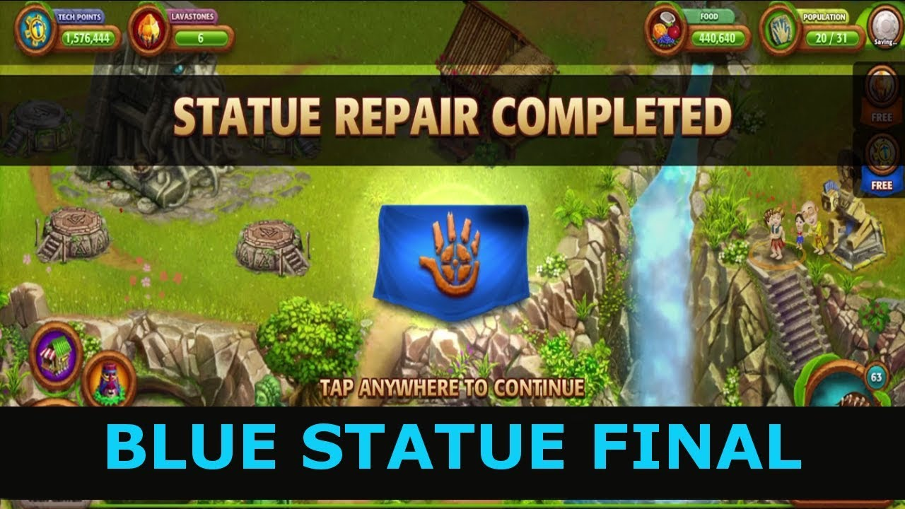 Virtual villagers origins 2 how to complete blue statue for Vv origins 2 artisanat