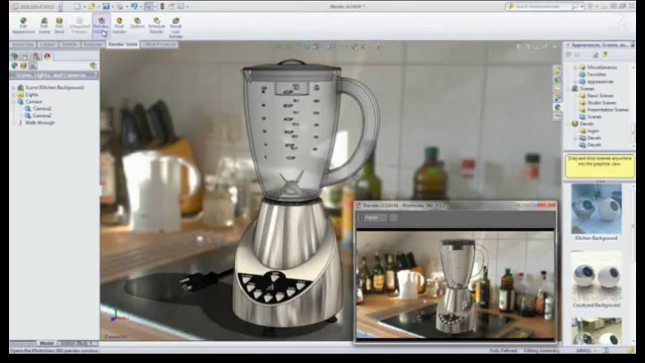 Advanced Photorealistic Rendering PhotoView 360 - YouTube
