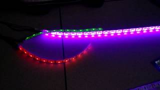 Light controller with led light strips 5050