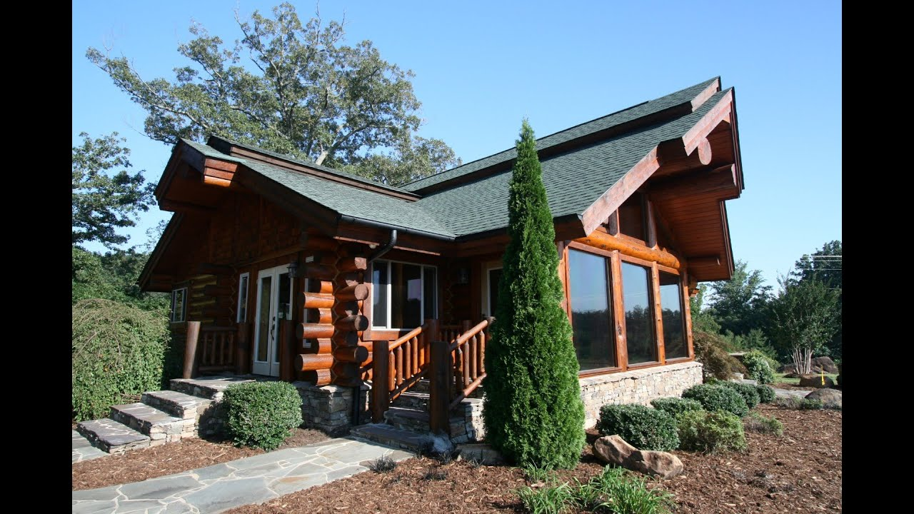 Custom Log Home With Mountain Views At Lake Lure NC ~Sold~   YouTube