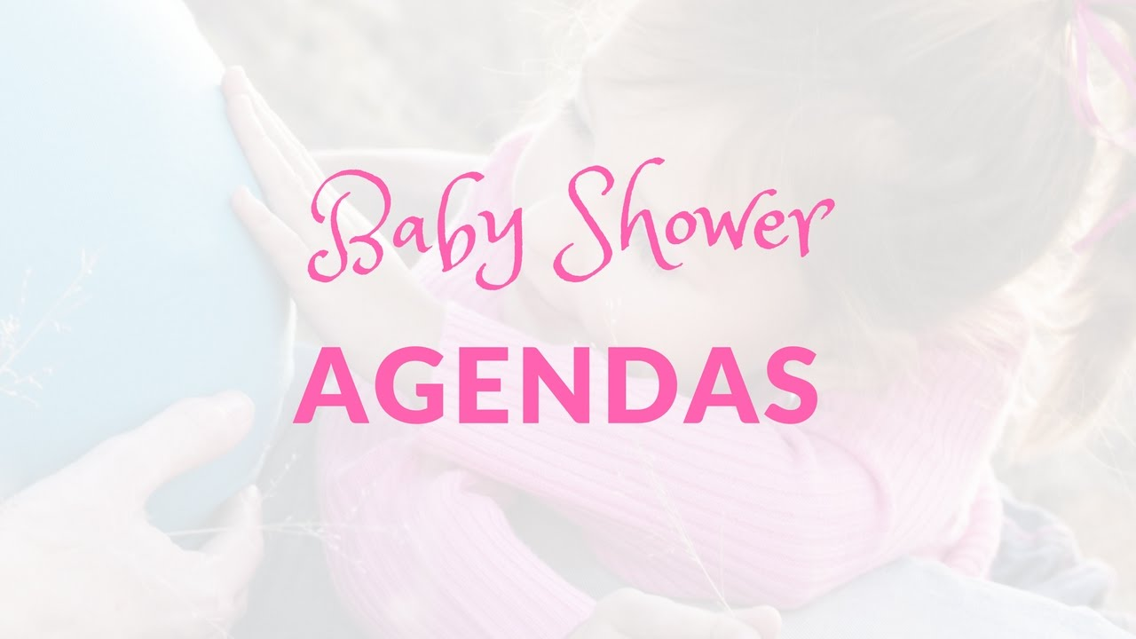 Do I Need a Baby Shower Agenda – Baby Shower Agenda Template