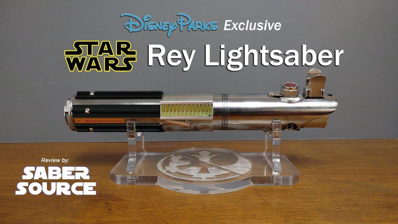 Expo Stands Lightsaber : Disney parks exclusive star wars rey lightsaber review by saber