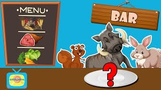 What do forest animals eat? - Animals for children - Animal sounds