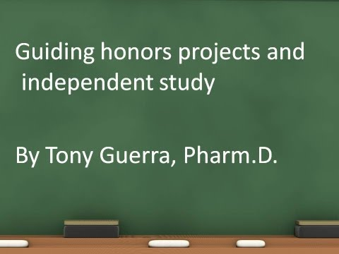 Guiding honors projects and independent study (DMACC Honors)